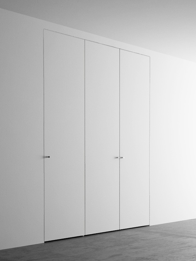 Invisible wardrobes with 3 doors. 150x260 cm - Invisible-door