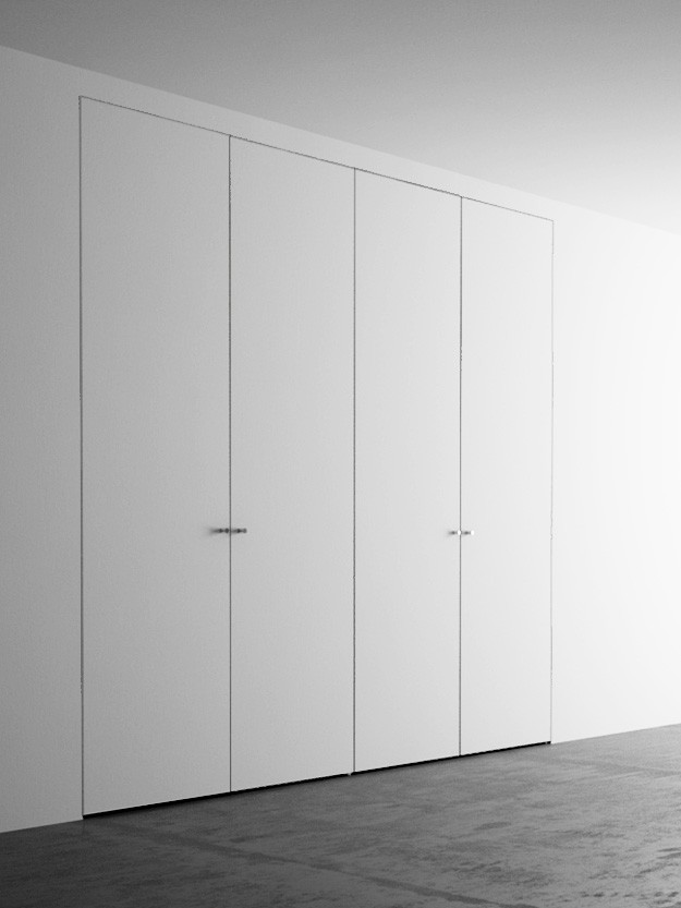 Invisible wardrobes with 4 doors. 220×260 cm - Invisible-door