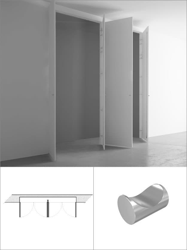 Invisible Wardrobes With 4 Doors 220 215 260 Cm Invisible Door