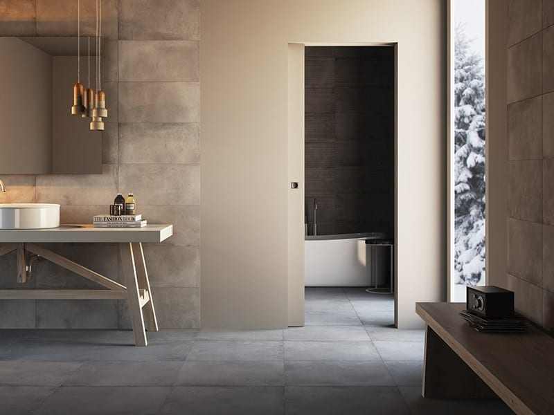 Flush To The Wall Sliding Doors For Bathroom All The