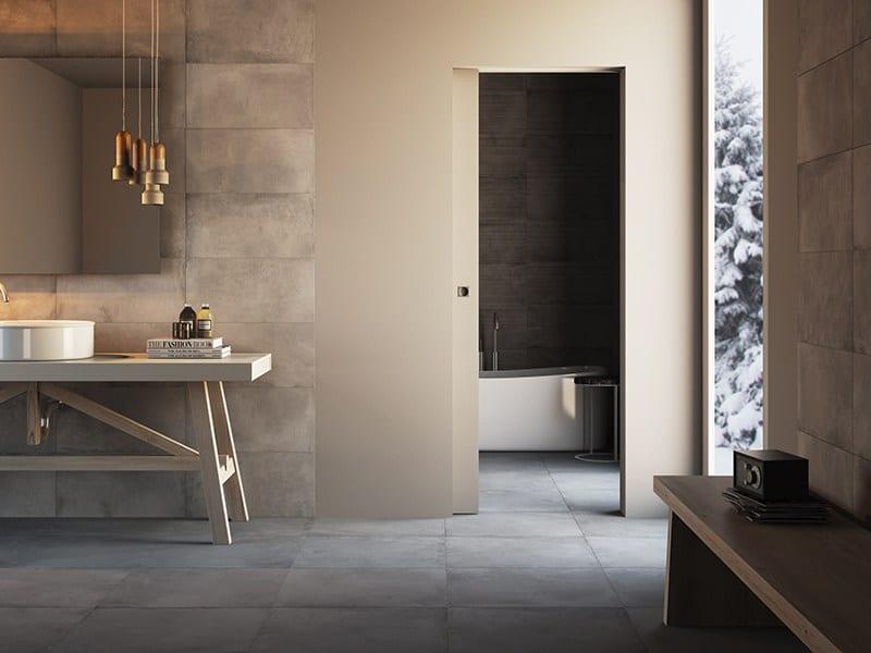 Flush To The Wall Sliding Door For Bathroom.