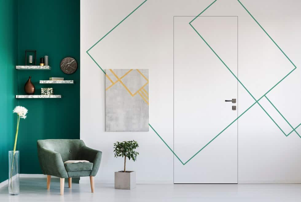 2019 interior design trends: geometrical pattern.