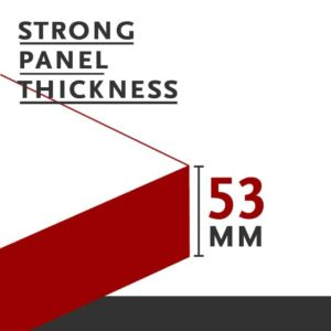 strong doors panel thickness