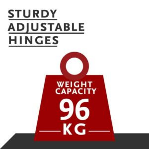 sturdy adjustable hinges
