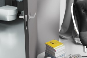 Lacquered flush door