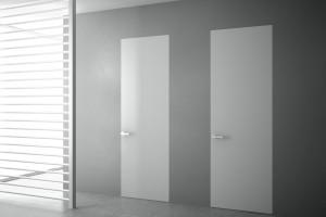 Frameless varnished doors